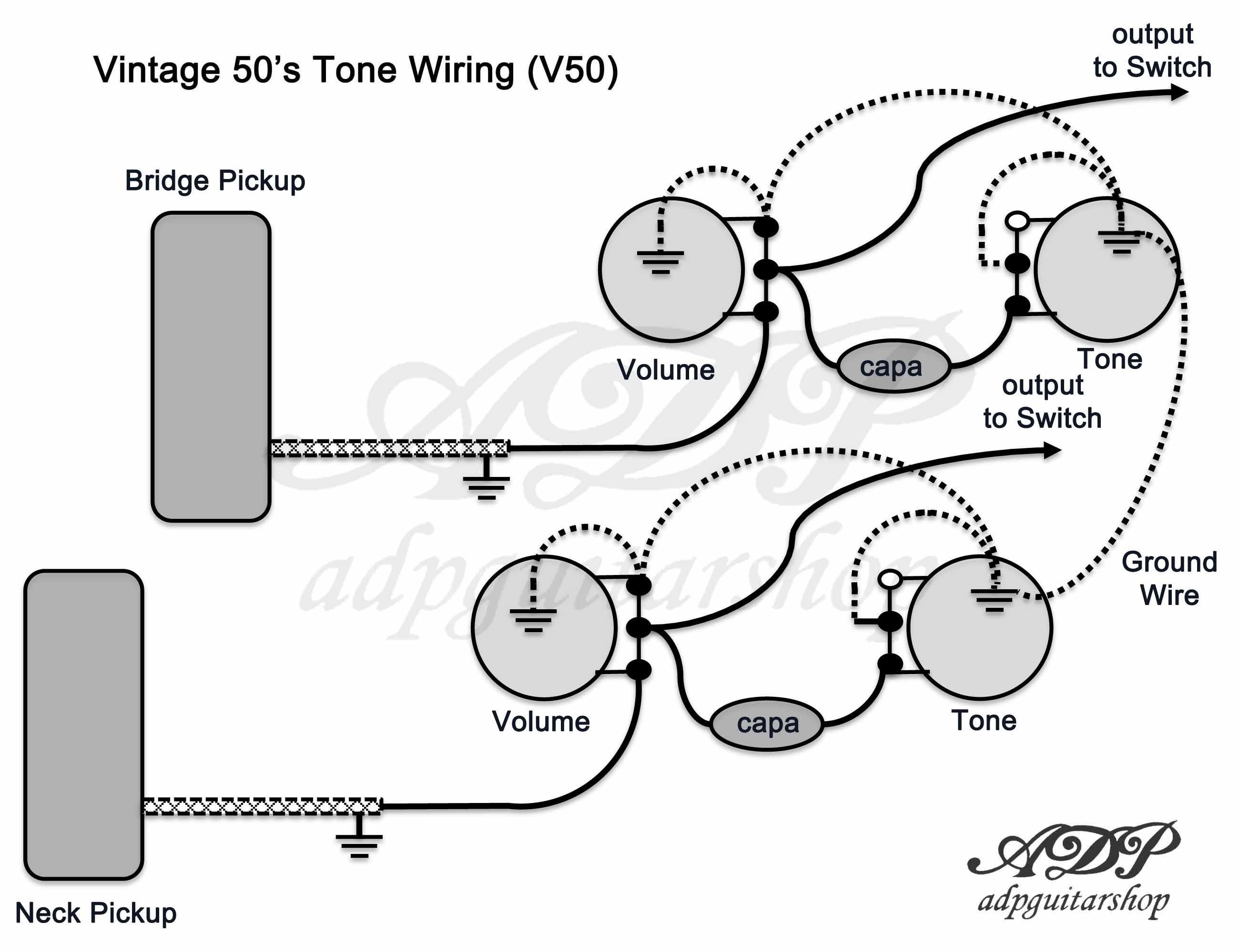 modern les paul studio wiring diagram