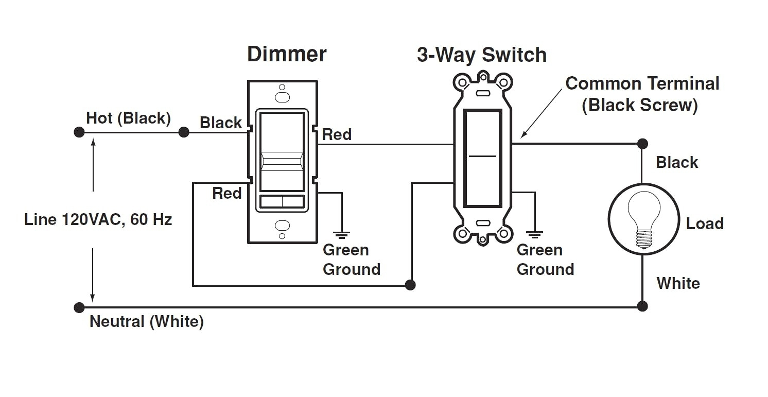 3 way dimmer switch circuit diagram