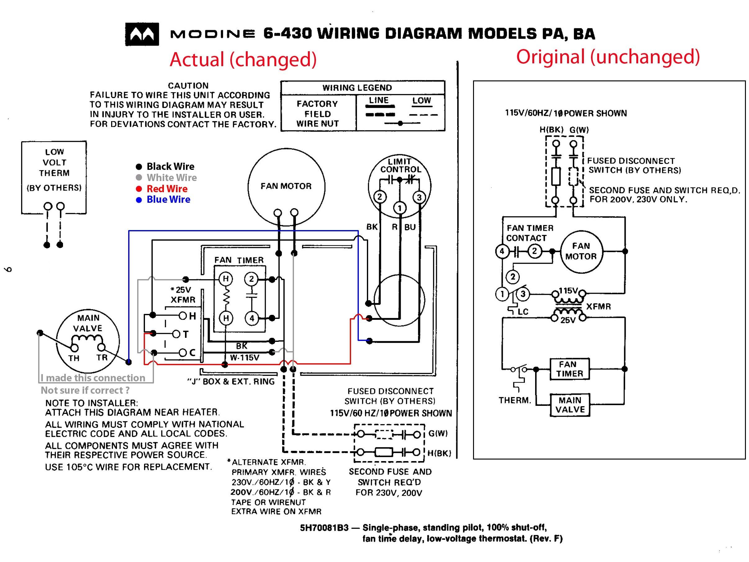 modine pa50ab wiring diagram