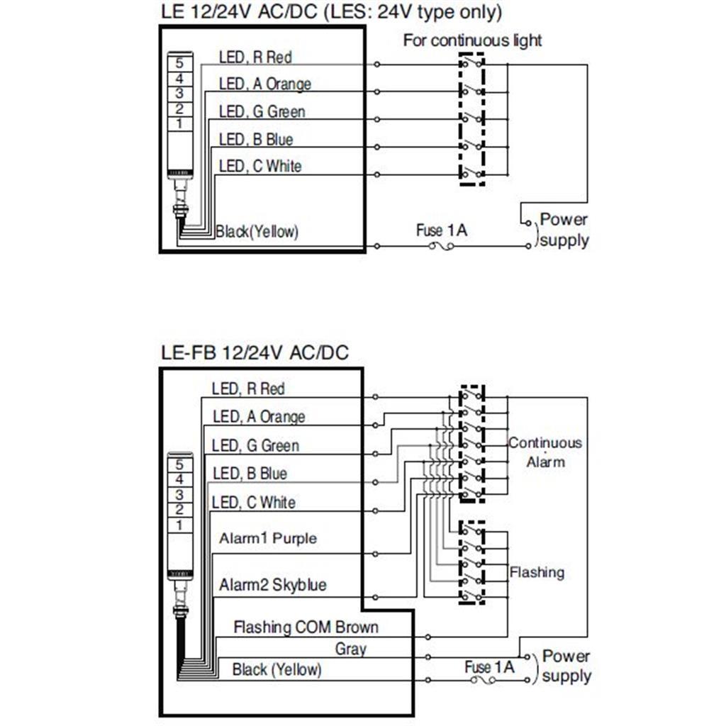 patlite signal tower wiring diagram