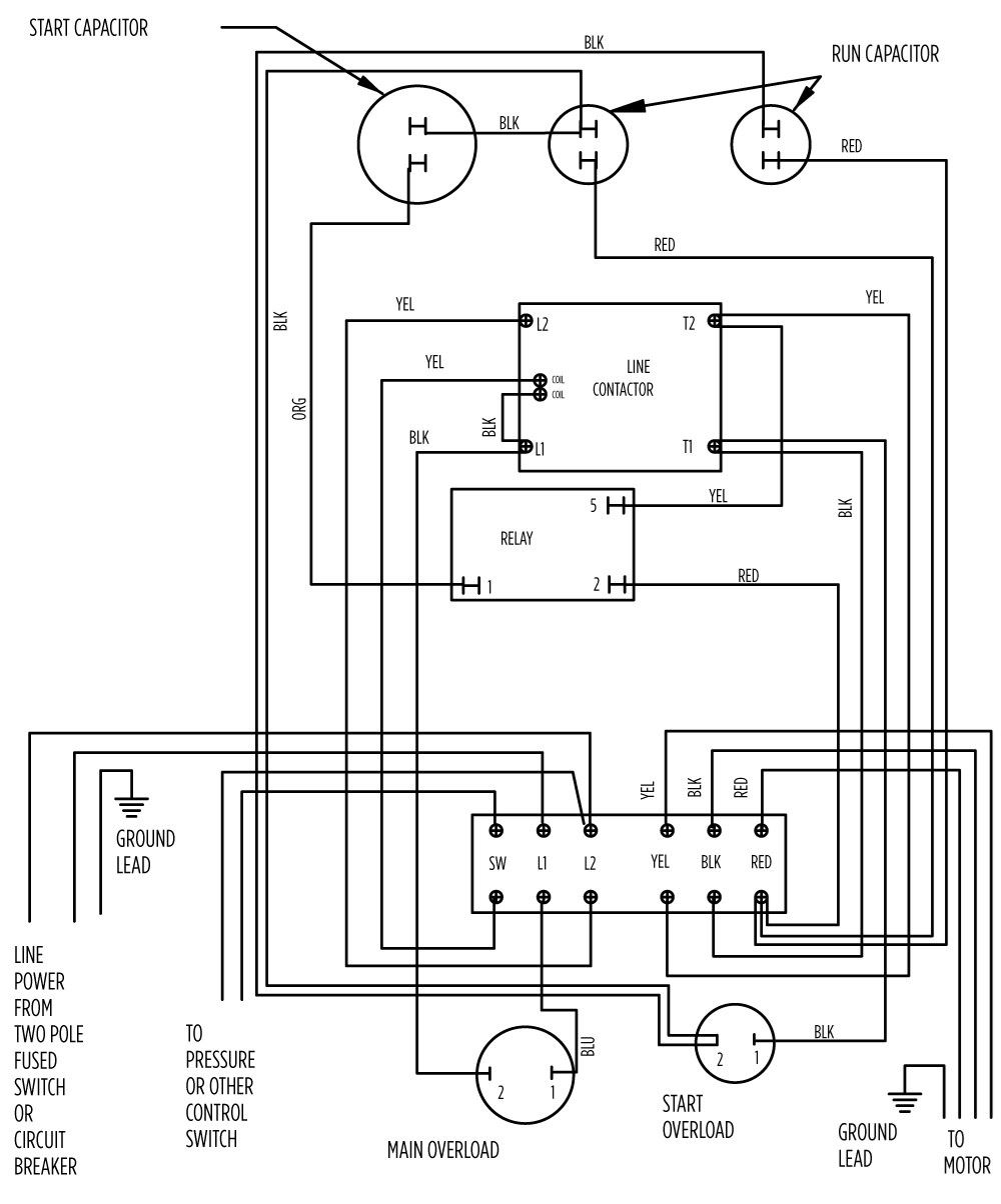 wiring diagram for submersible water pump