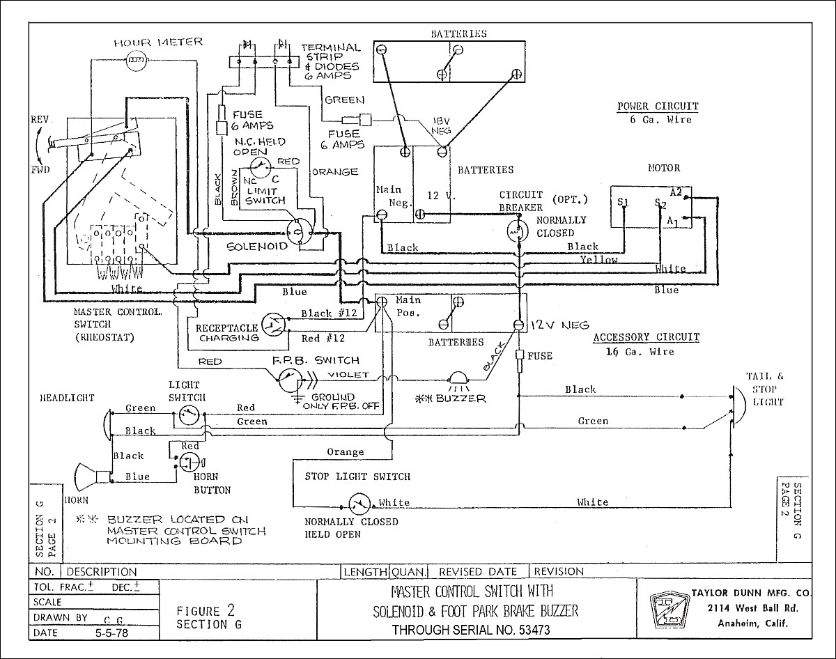 taylor dunn wiring diagram ms7