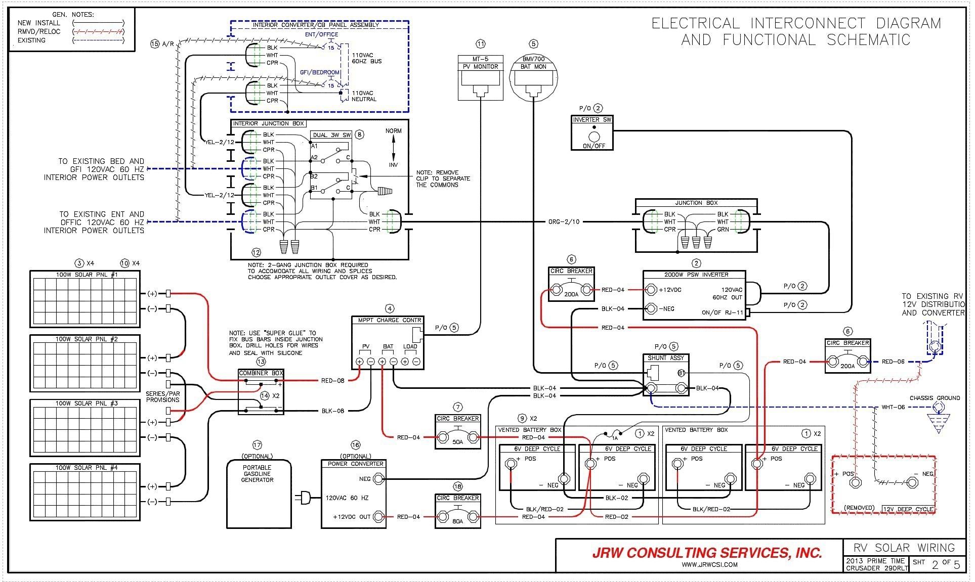 monaco motorhome battery wiring diagram