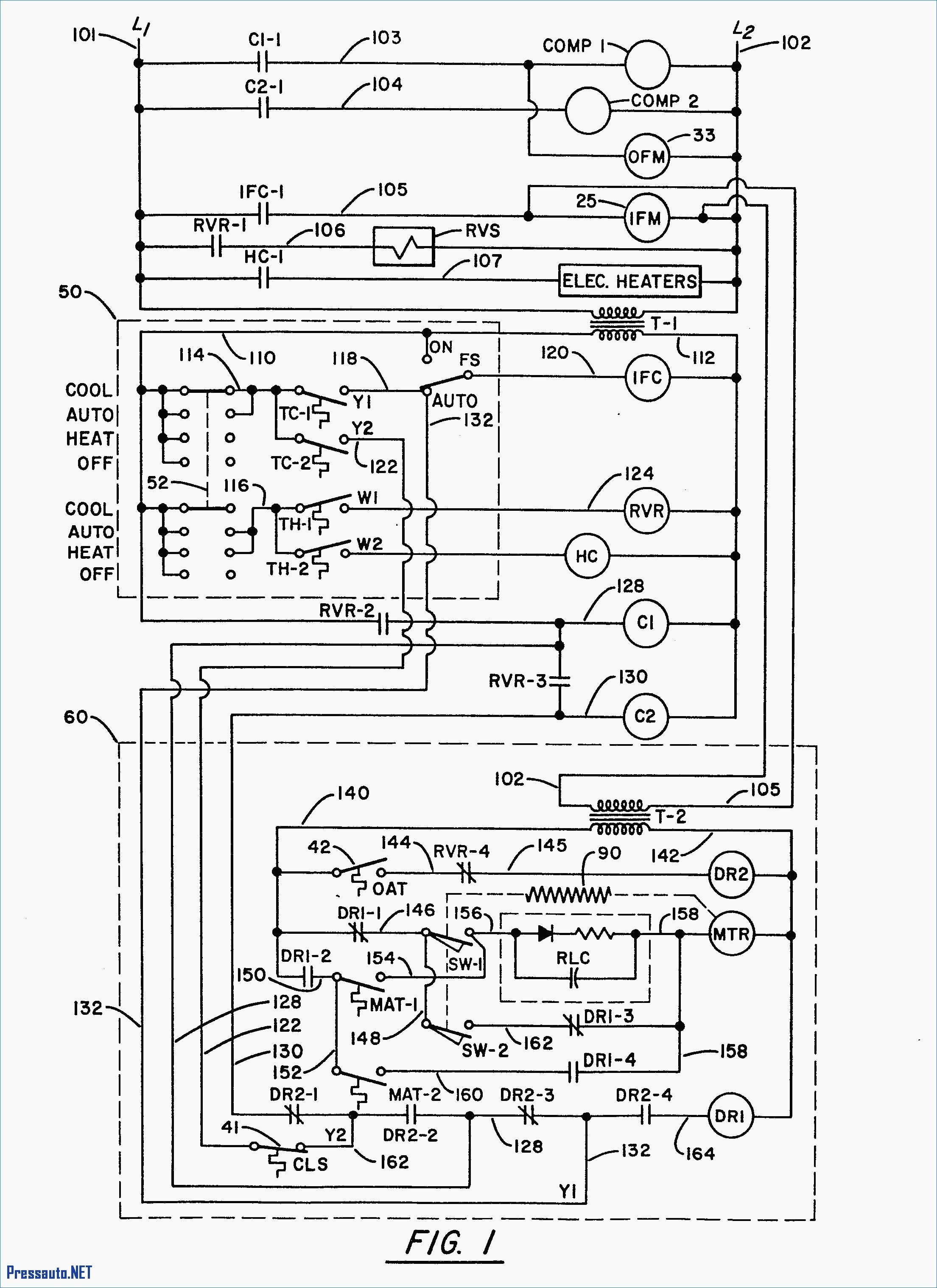 trane wiring diagram for thermostat