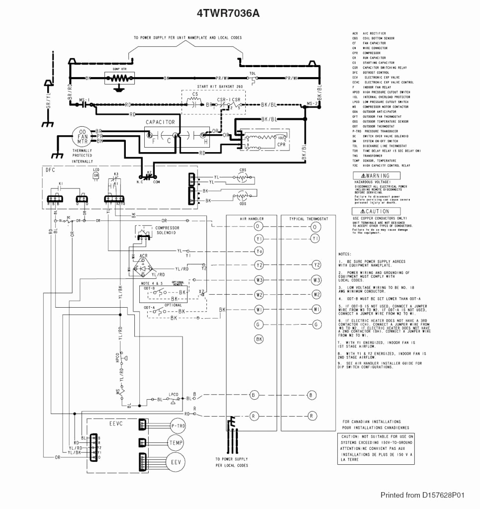 trane bay28x138a wiring diagram