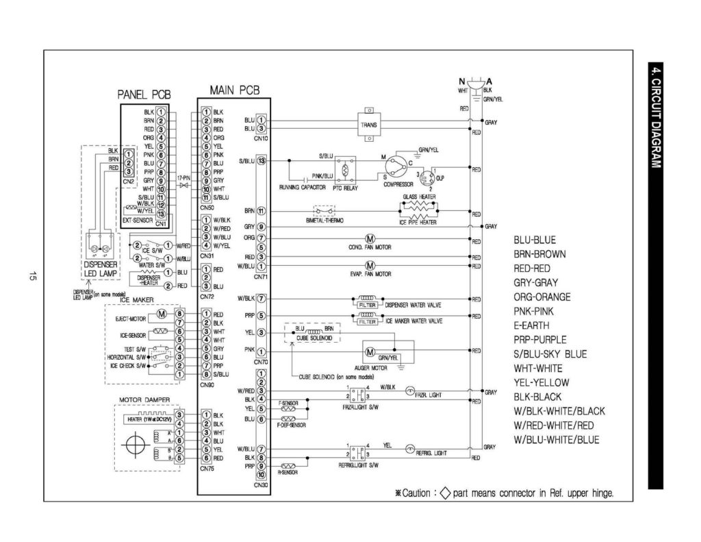 samsung digital inverter fridge wiring diagram