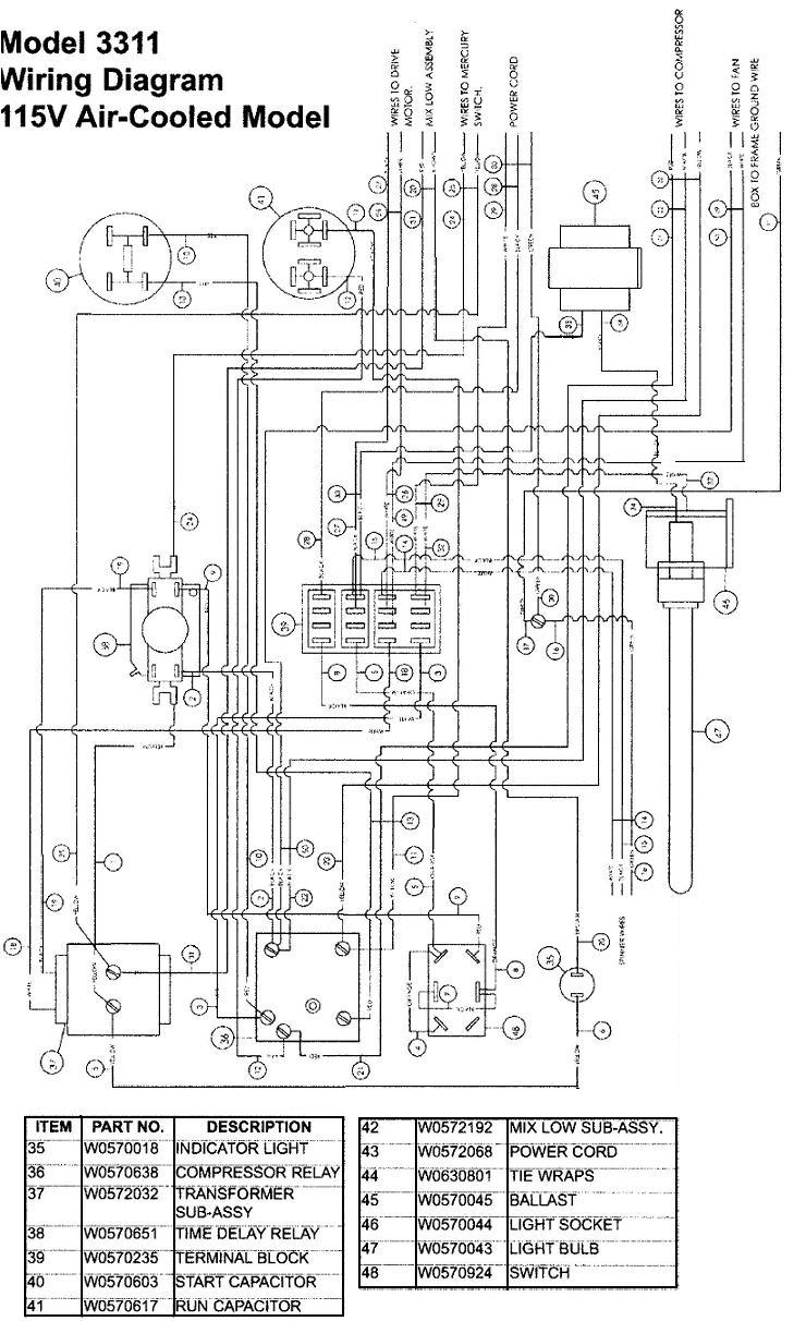 wiring diagram of refrigerator
