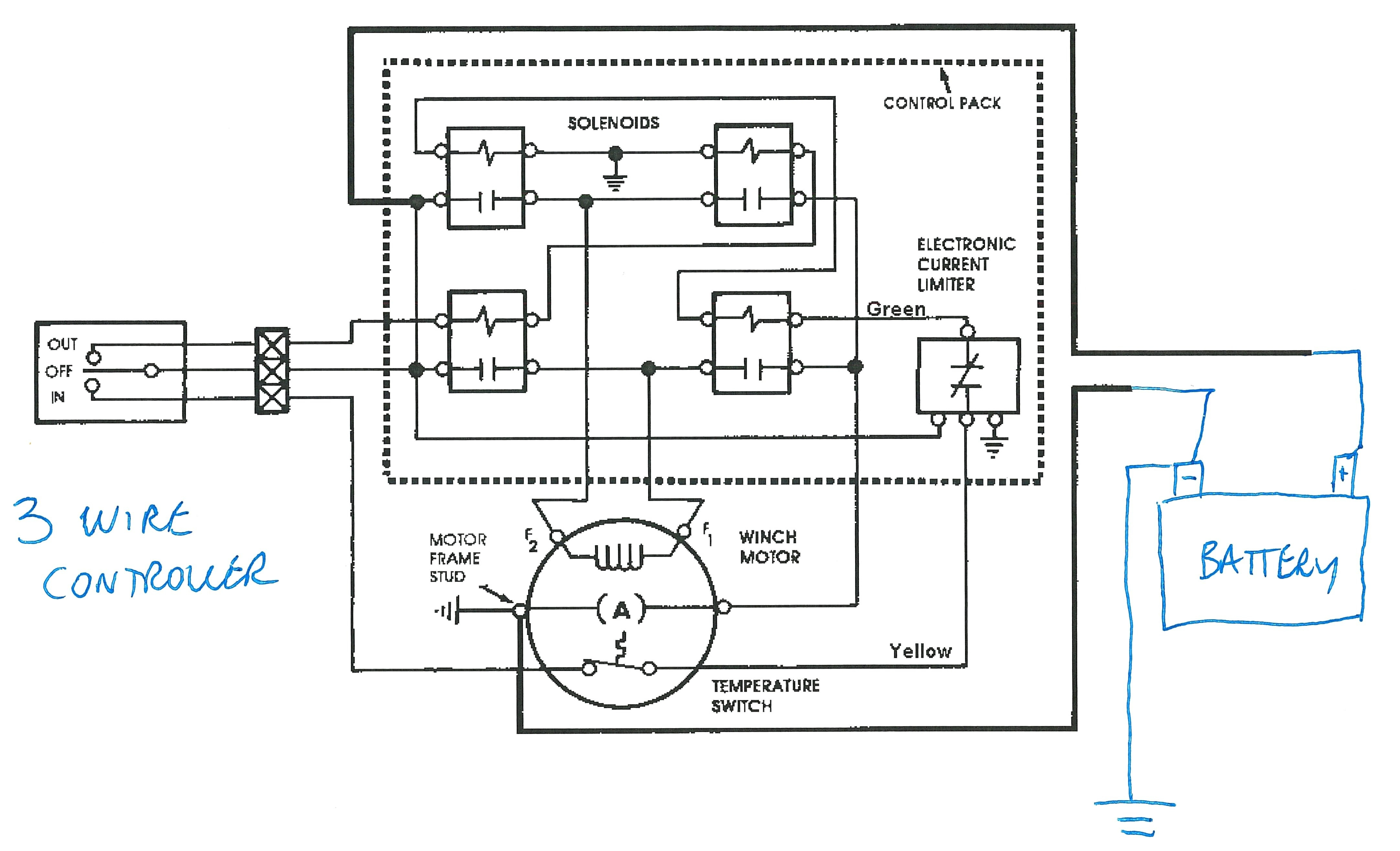 warn winch wiring diagram system