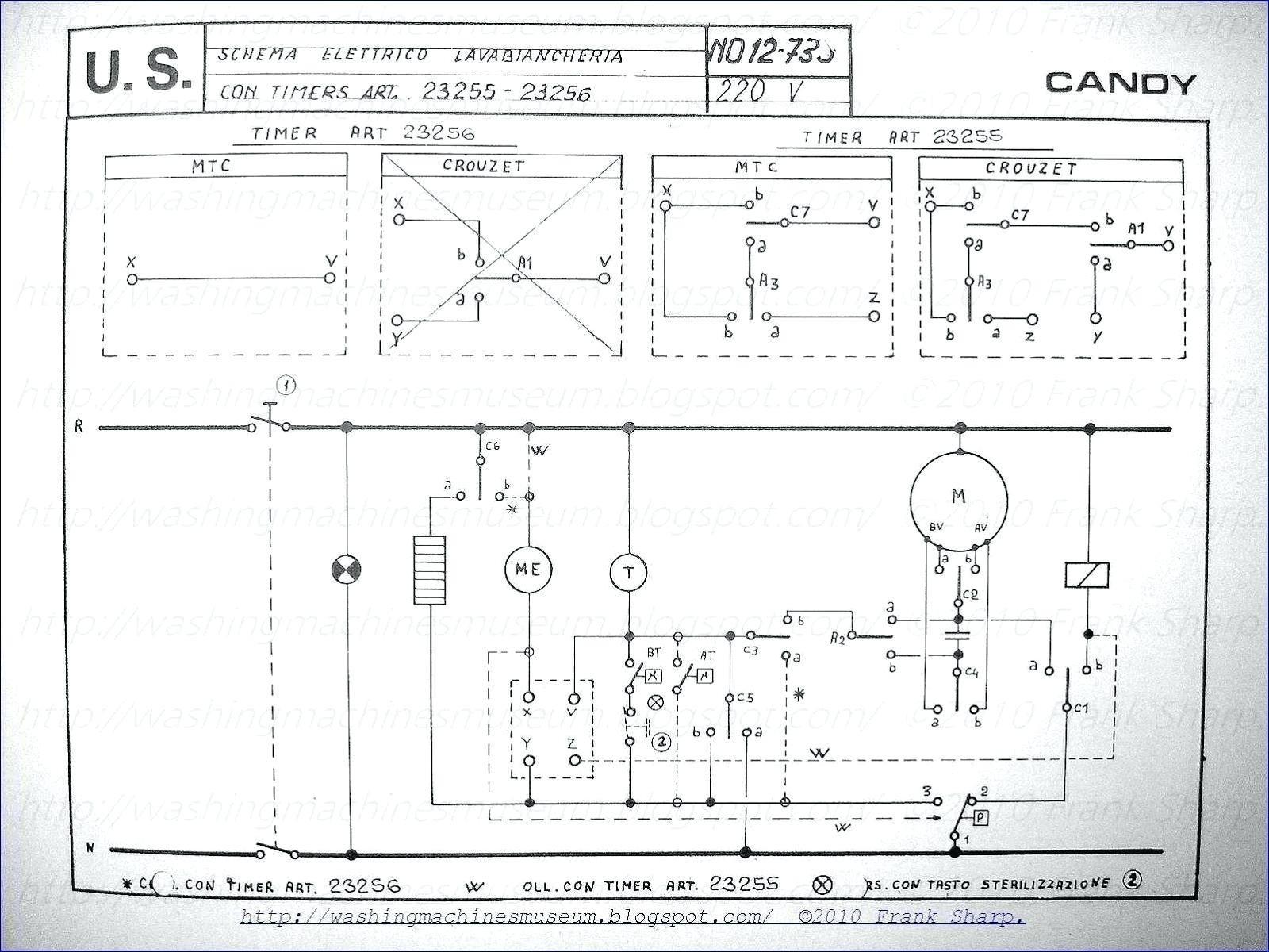 simple washing machine timer wiring diagram