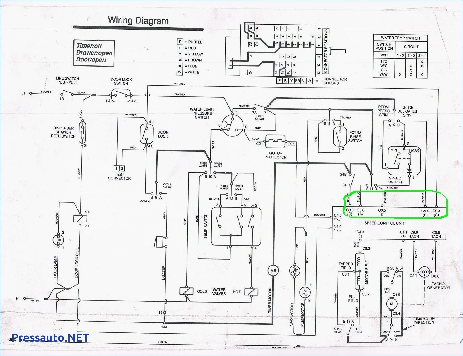 whirlpool washing machine electrical diagram