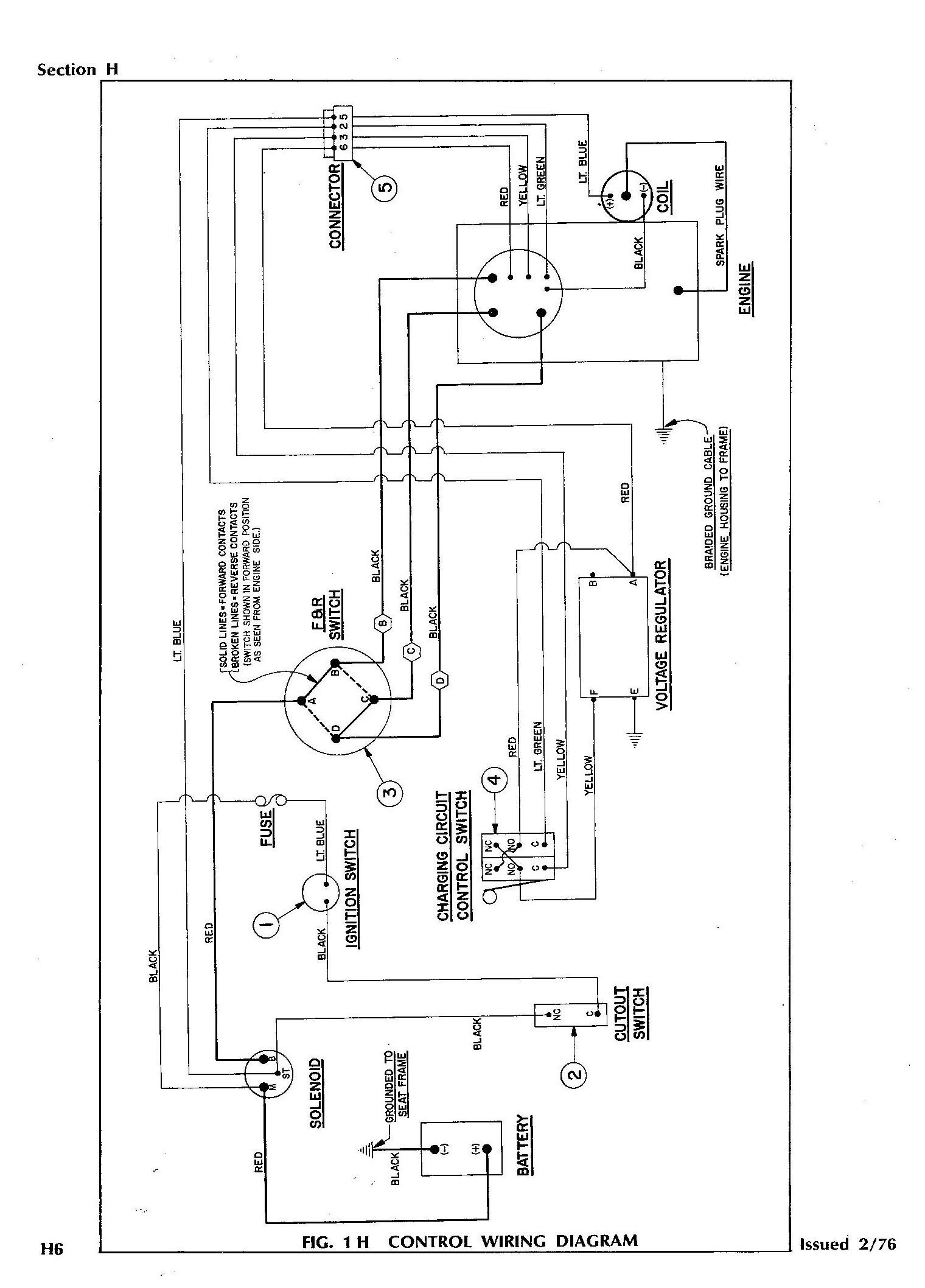 battery wiring diagram for yamaha golf cart