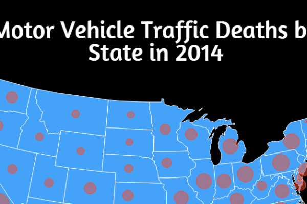Motor Vehicle Traffic Deaths by State 2014