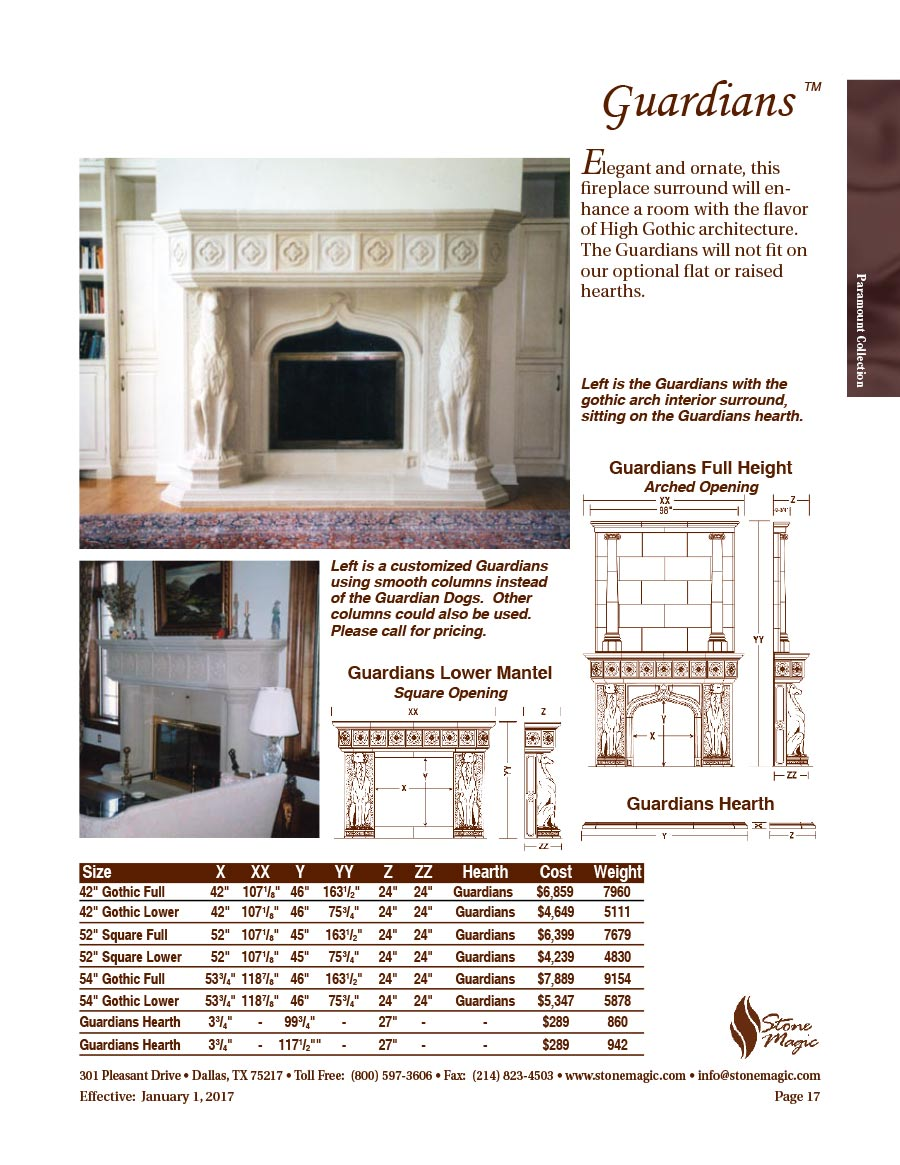Fireplace Mantel Parts Stone Magic Cast Stone Fireplaces