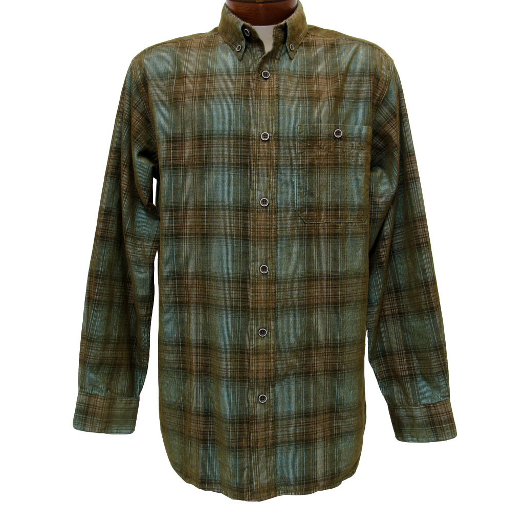 Batik Tuch Men's Basic Options Long Sleeve Yarn Dyed Hombre Plaid
