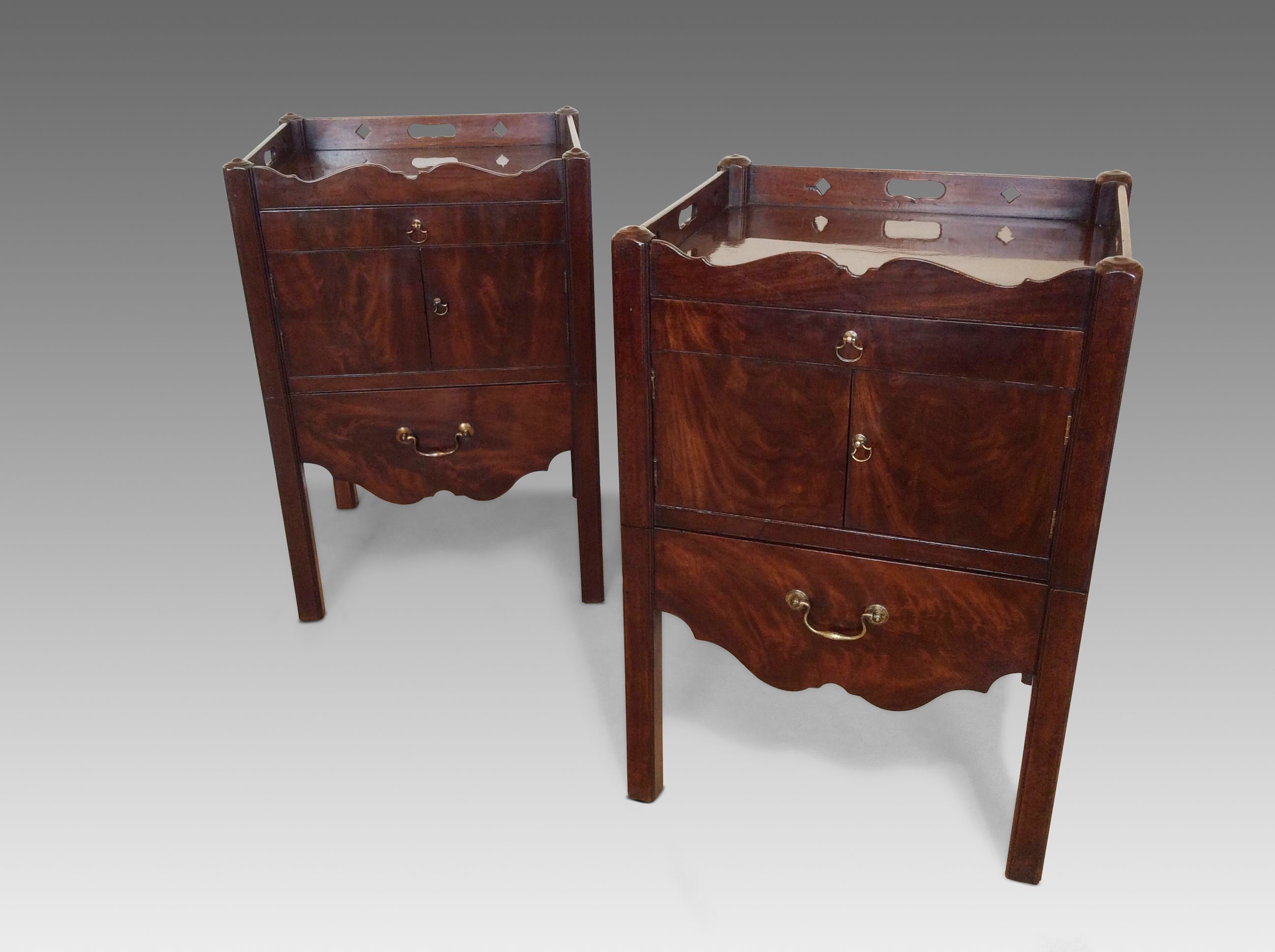 Antique Bedside Tables Pair Antique Bedside Tables Richard Gardner Antiques