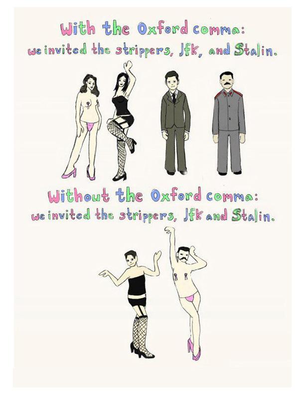 We like the Oxford comma II - Richard GilbertRichard Gilbert - comma and and