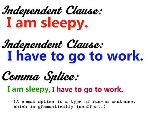 comma splice examples