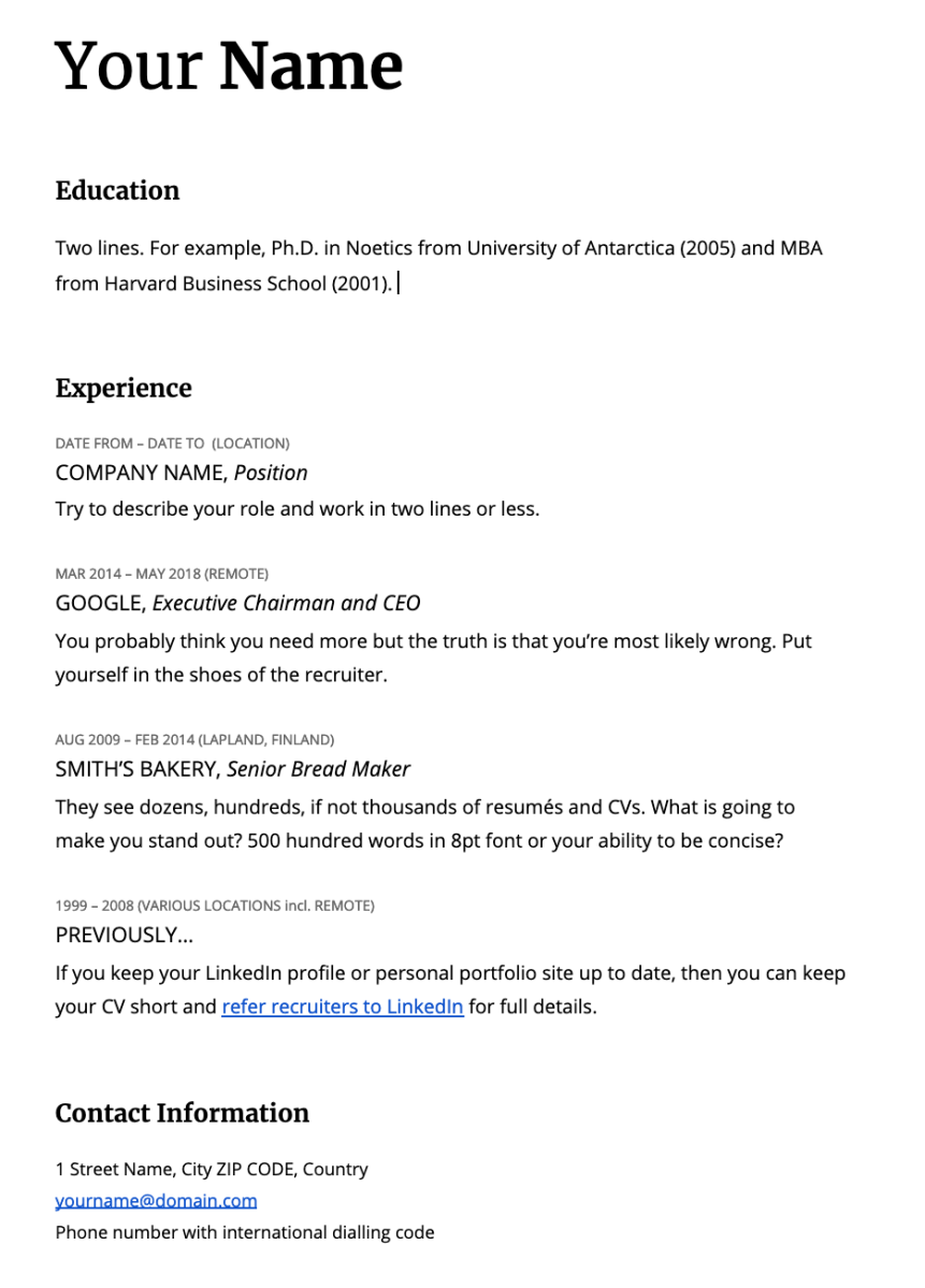 resume template 2019 word
