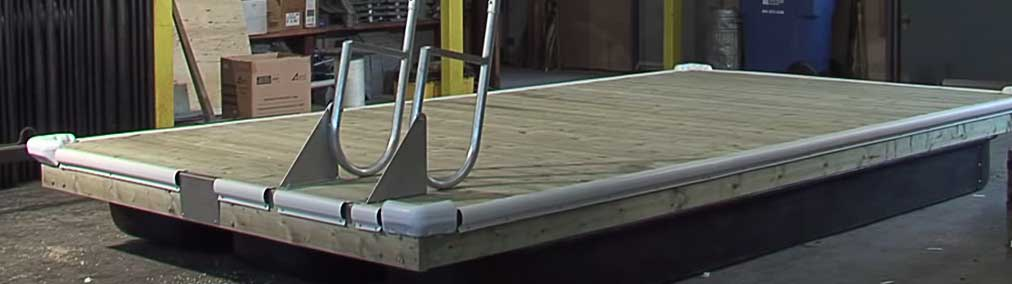 Building a floating swimming dock ladder