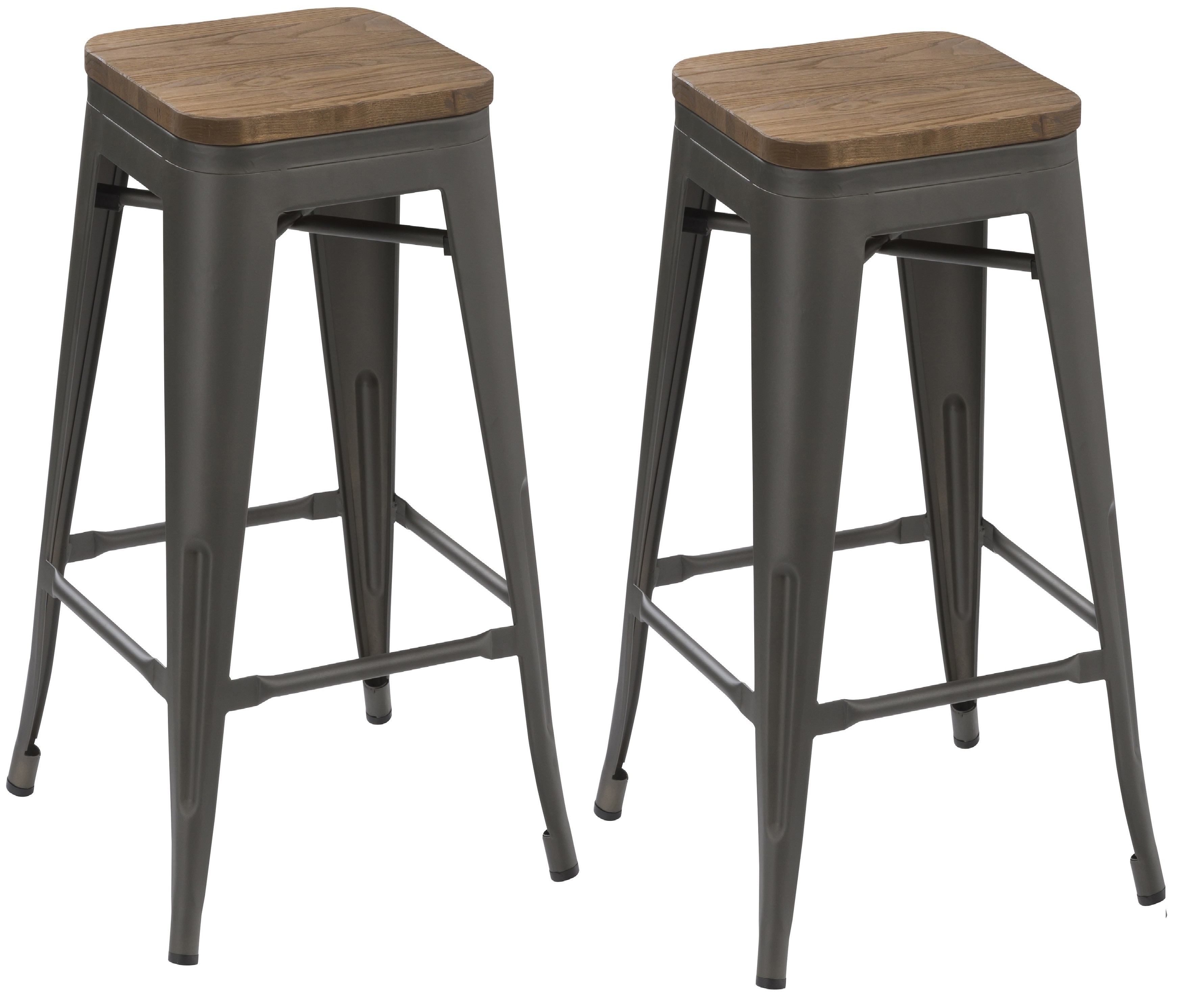 Rustic Modern Counter Stools Btexpert 30 Inch Industrial Metal Vintage Stackable