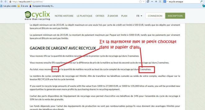 recyclix scam ponzi scam ponzi pyramid Cavalry