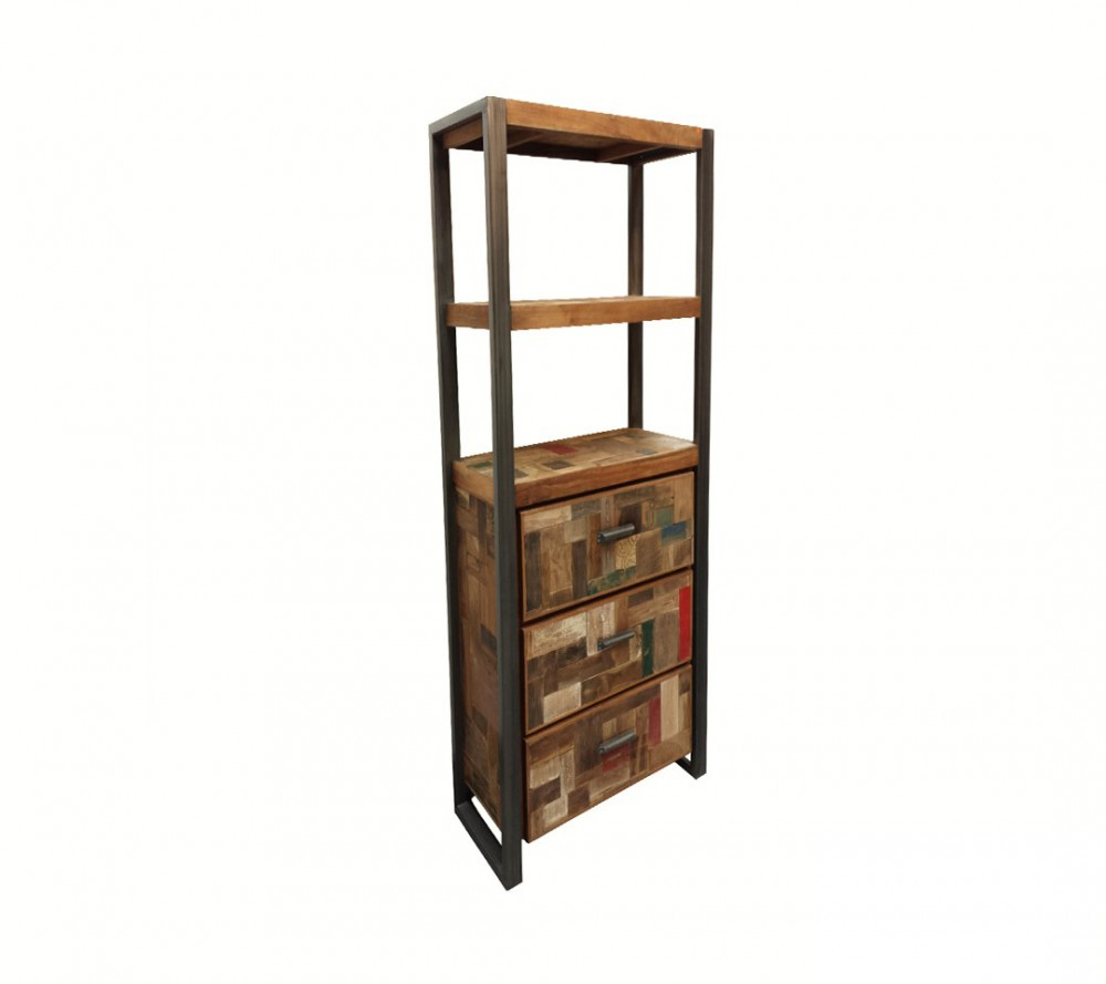 Regal Tiefe 60 Cm Regal Industriedesign, Bücherregal Metall Holz, Breite 60 Cm