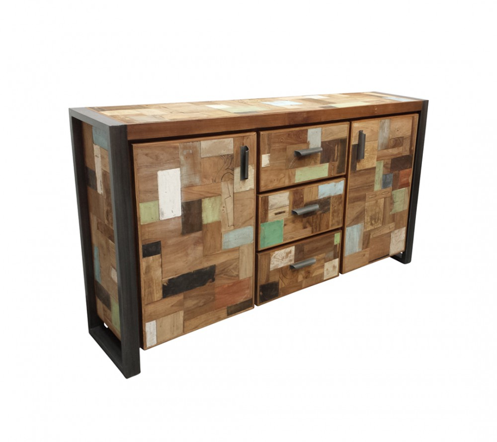 Sideboard Holz Metall Sideboard Industriedesign Anrichte Metall Holz Länge 180 Cm