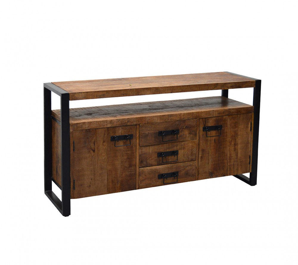Sideboard Holz Metall Sideboard Industriedesign Anrichte Metall Holz Breite 145 Cm