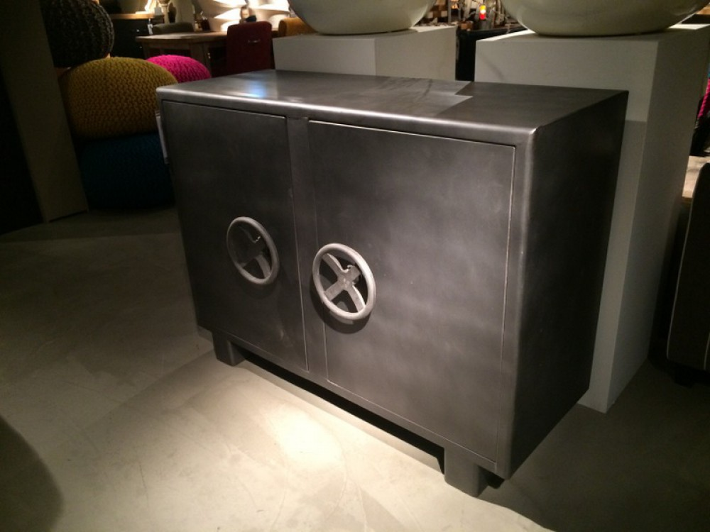 Kommode Grau Sideboard Metall Im Industriedesign, Metall-kommode