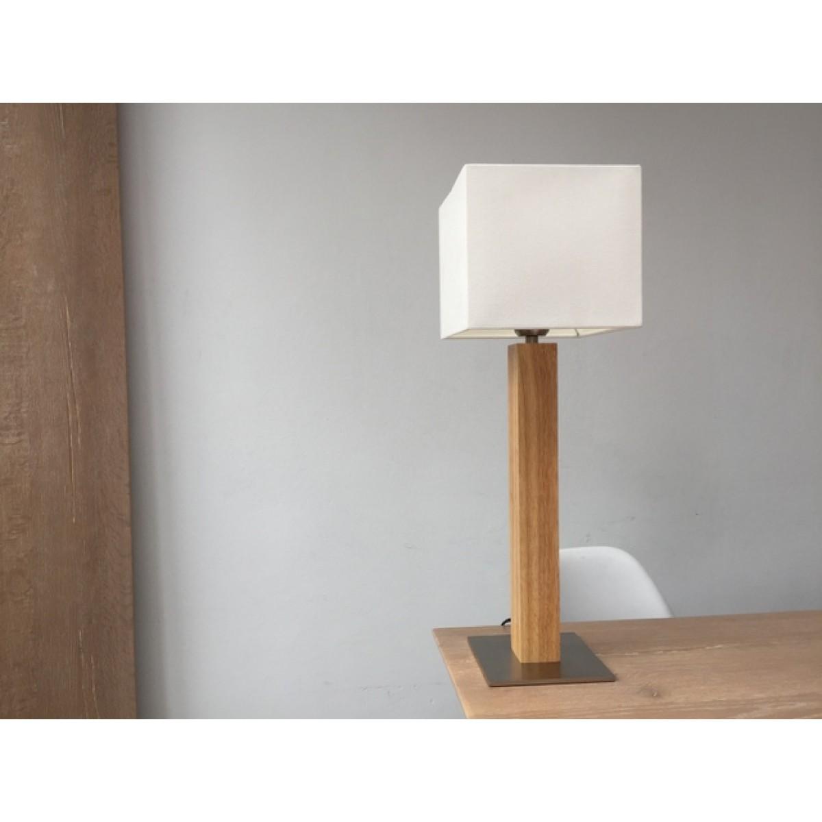 Tischlampe Holz Kupfer Tischlampe Holz Tischleuchte Lampe Leuchte