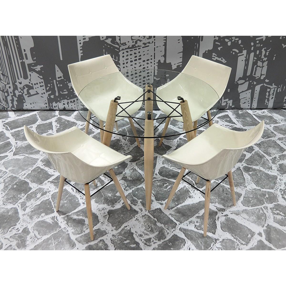 Couchtisch Glasplatte Rund 100 Cm Tv Tisch Modena Stahl Glasplatte