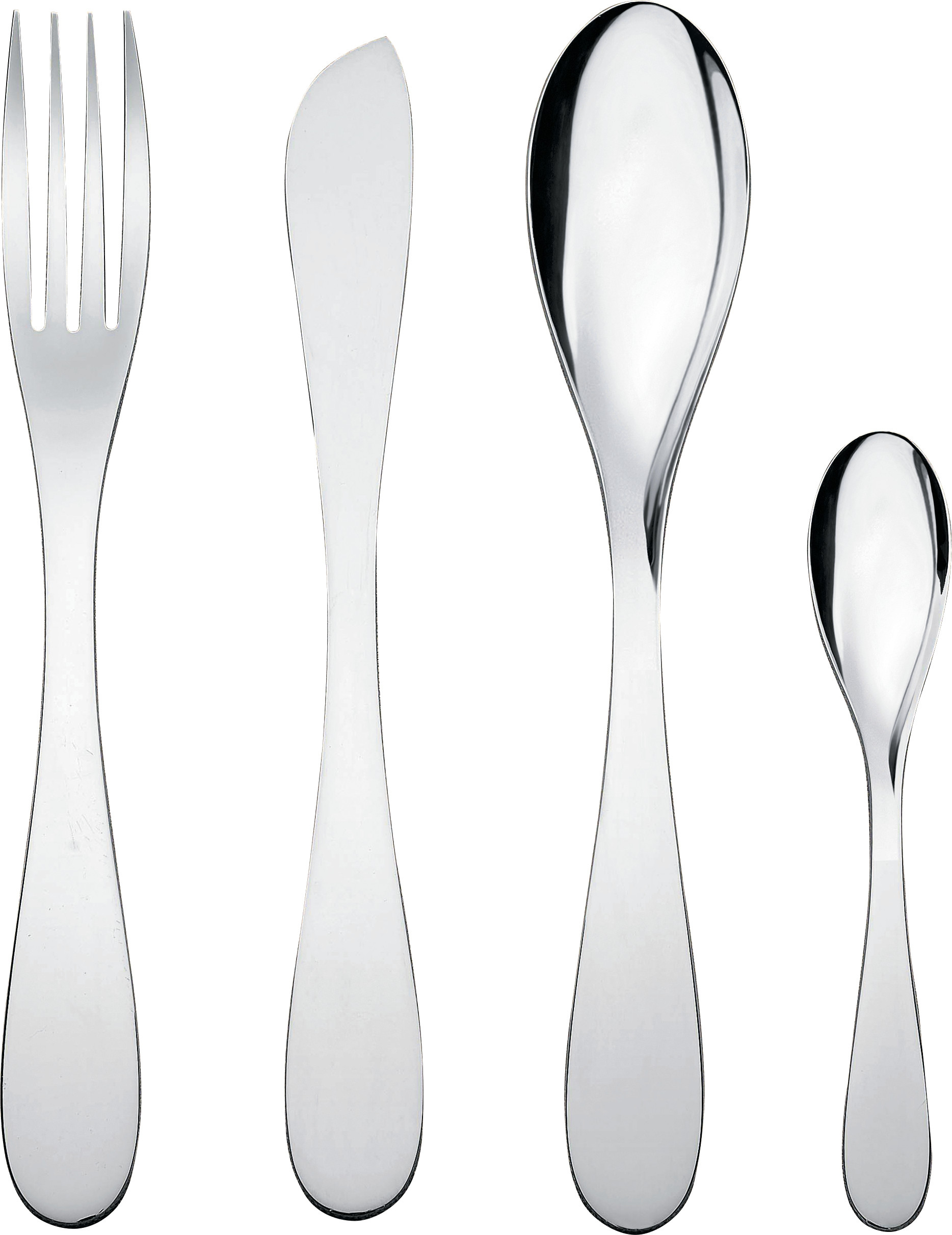 Alessi Silverware Alessi Eat It Cutlery Set 24 Piece
