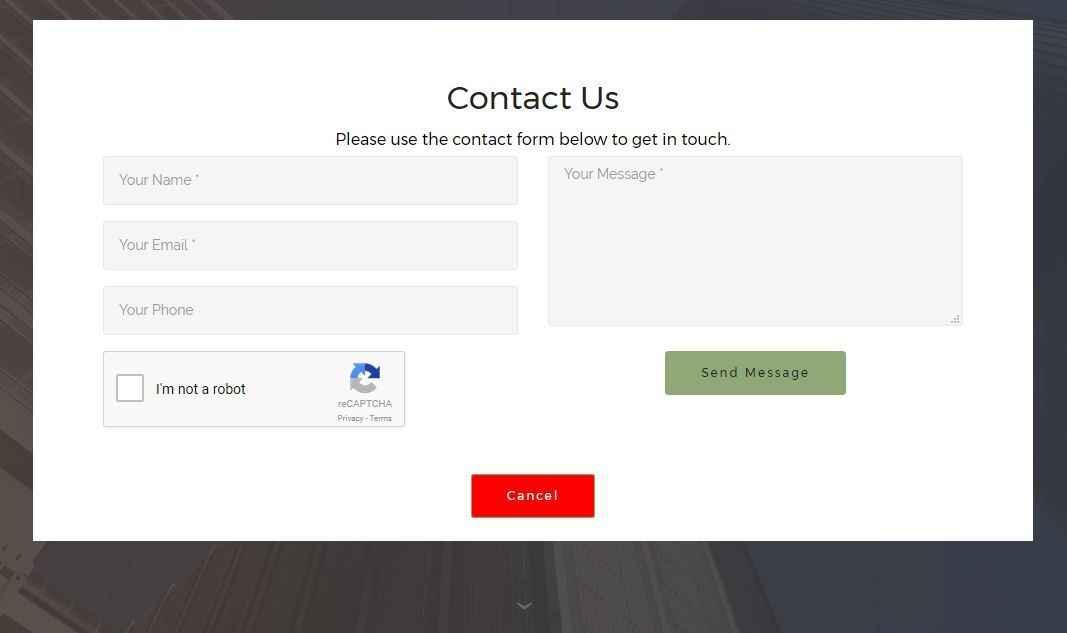 E1 Mobirise Contact Form Extension with reCaptcha