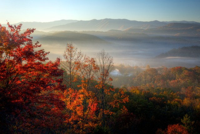 Gatlinburg In The Fall Wallpaper Foggy Fall Morning In The Smokies Rick Holliday
