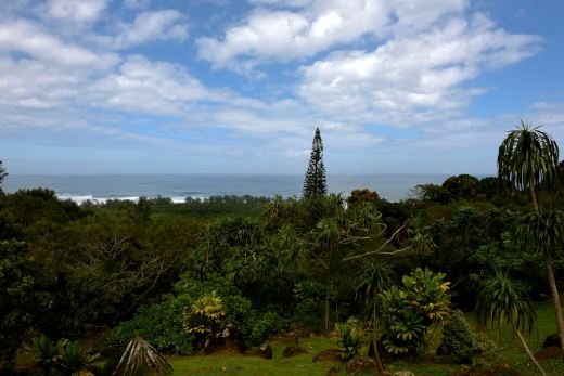 Overlooking the north shore from atop Limahuli Garden