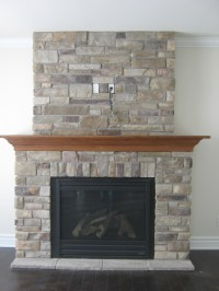 Custom fireplace with Country Ledge Stone | Rick ...