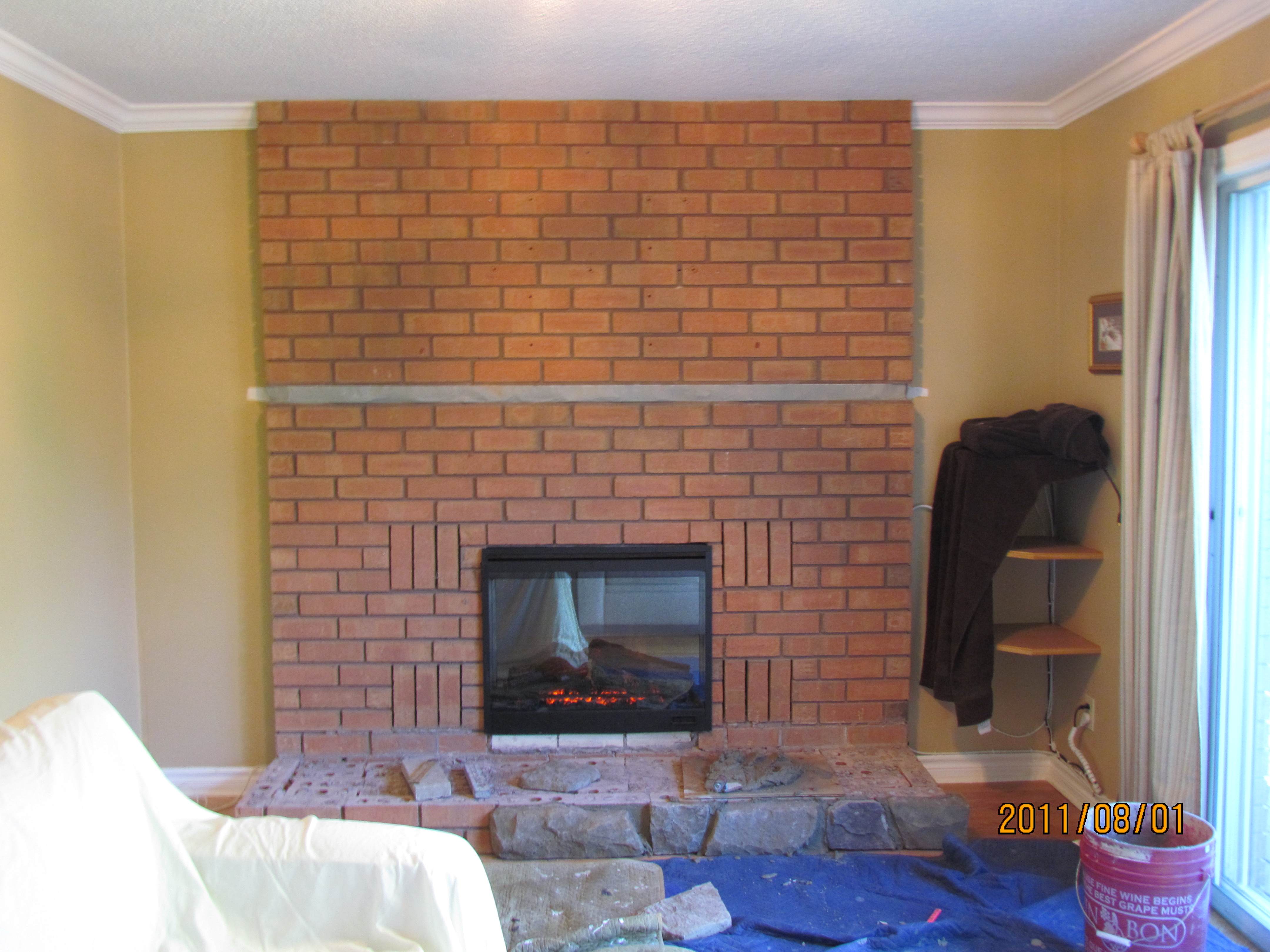 Refacing Brick Fireplaces With Cultured Stone Rick