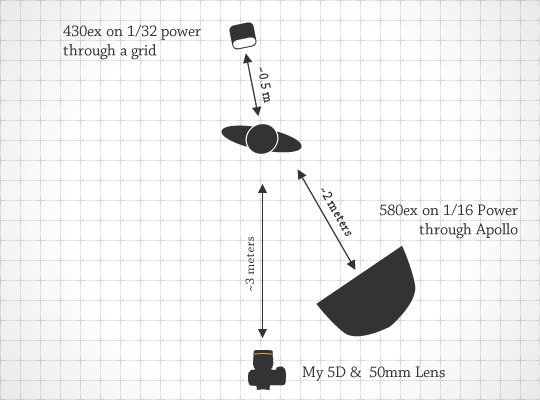 diagram for wedding shoots strobist