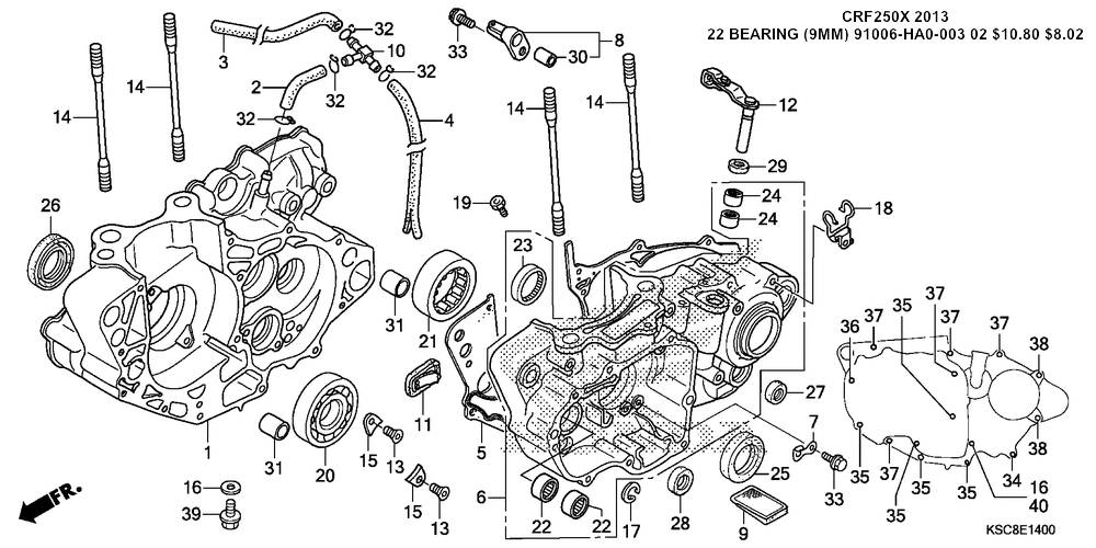 honda crf 250 engine diagram