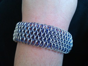 Dragonscale in silver and purple
