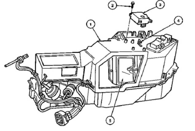 1992 dodge dakota heater fan wiring