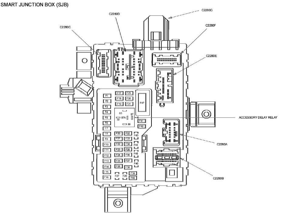 2017 ford fusion hybrid fuse box location