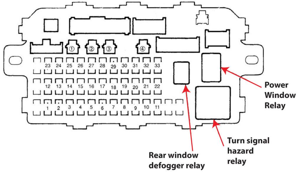 92 civic cx fuse diagram