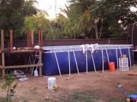 Modern Backyard Above Ground Pools : Rickyhil Outdoor ...