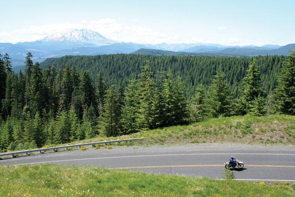 Southern Washington Motorcycle Touring Cascade Mountain