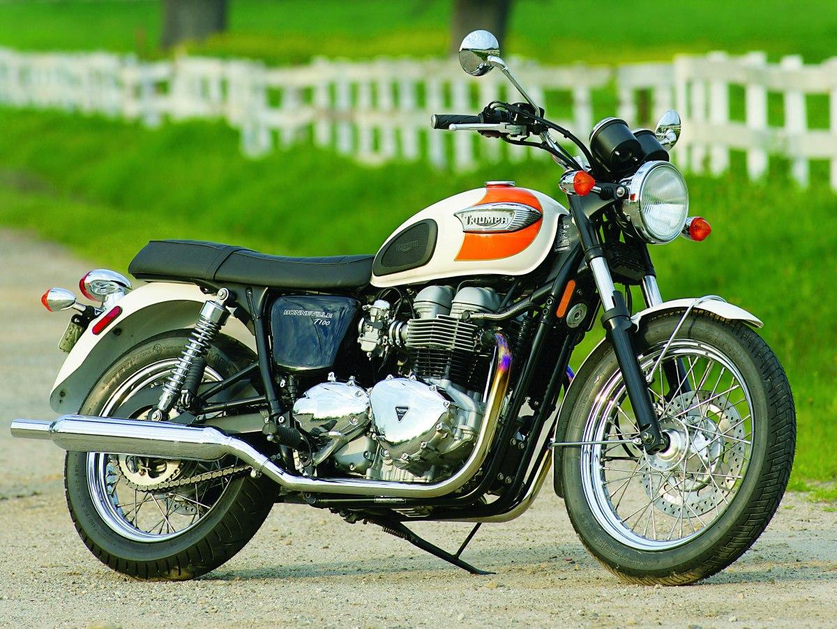 2005 triumph bonneville t100 road test rider magazine. Black Bedroom Furniture Sets. Home Design Ideas