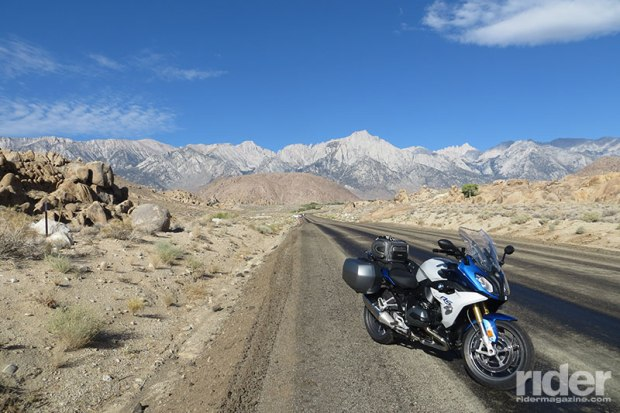 The 2016 BMW R 1200 RS turned out to be the ideal bike for this journey: a powerful engine, manageable weight, easy-to-use luggage, a comfortably sporty riding position, great handling thanks to the Dynamic ESA suspension--and heated grips (for that 36-degree morning in Lake Tahoe)--made for an enjoyable 1,500 mile loop. (Photo: the author)