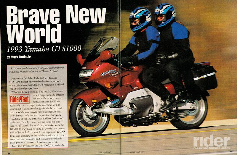1993 Yamaha Gts1000 Road Test Review Rider Magazine