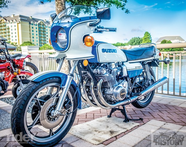 Jim Sabo's gorgeous 1979 Suzuki GS1000S Wes Cooley Replica won the Grand Marshal's award. (Photo: Jim Dohms)
