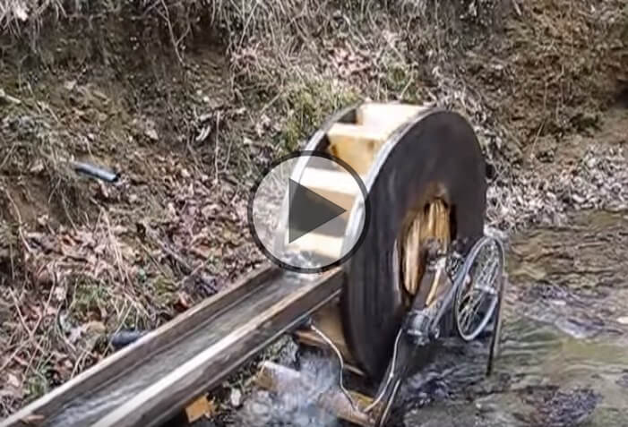 Sunliner Homemade Water Wheel Generator For Free Electricity!